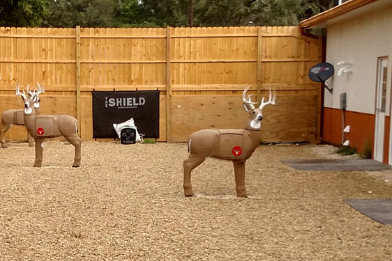 Midwest Whitetail Hunting lodge has target practice area.