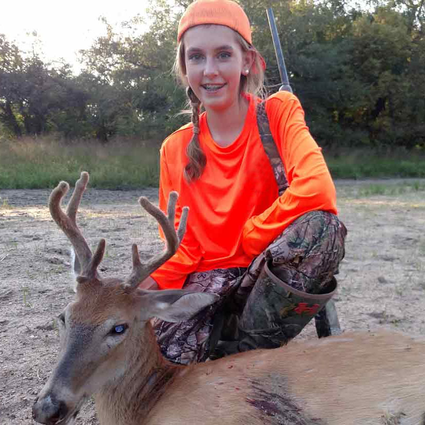Guided youth deer hunts in Kansas with Midwest Whitetail Adventures.