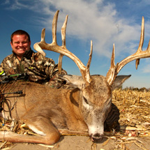 Come to Kansas and hunt monster whitetail deer with Midwest Whitetail Adventures and leave with a record book buck and a huge smile on your face!