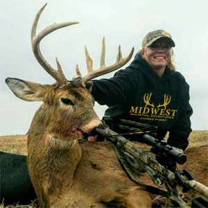 Guided whitetail hunts in Kansas.