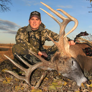 Trophy buck hunting in Republican Valley, Kansas.