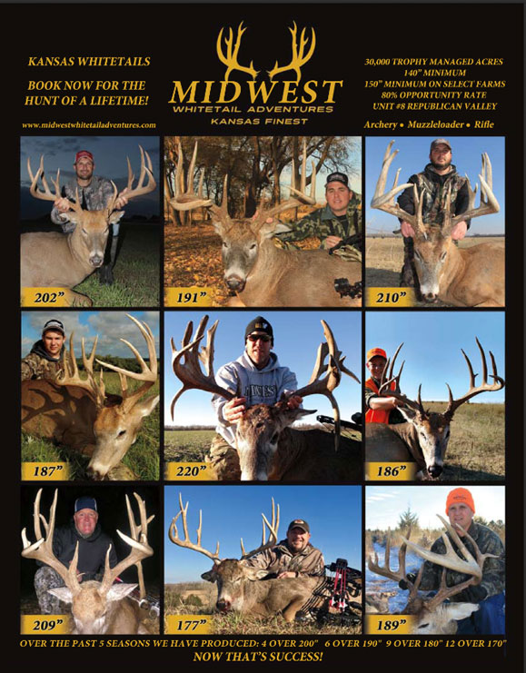 Midwest Whitetail Adventures deer hunt brochure