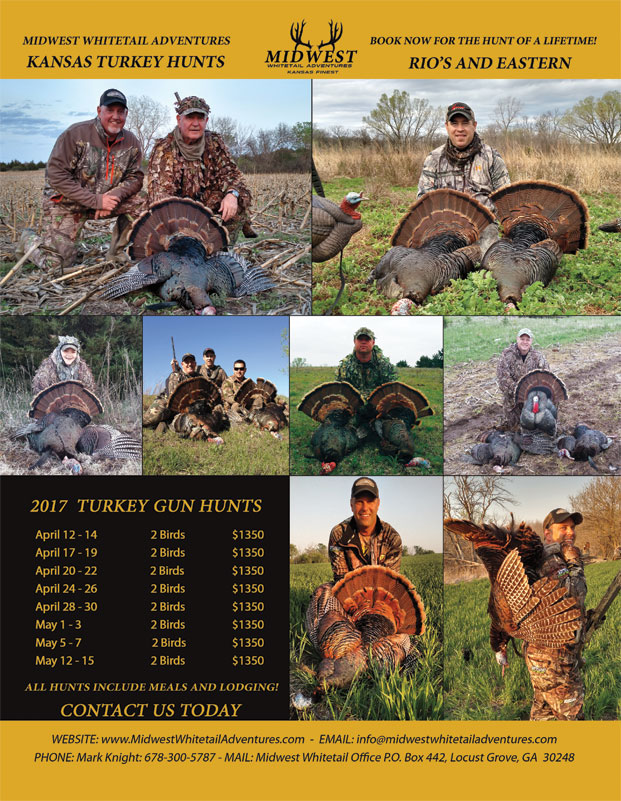 Midwest Whitetail Adventures turkey hunt brochure